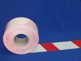 Výstražná páska červeno-biela 75 mm x 300 bm obr.