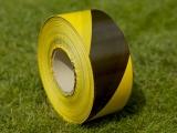 Výstražná páska žlto - čierna 75 mm x 300 bm obr.