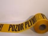 Výstražná výkopová páska žltá  POZOR PLYN 100 bm - na objednávku obr.