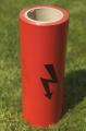 Výstražná  výkopová páska červená BLESK 100 bm - na objednávku obr.